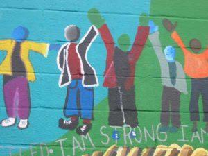 i am strong mural