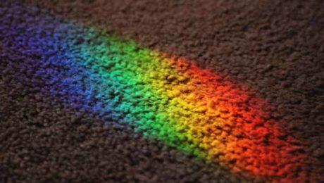 rainbow on street